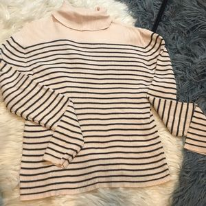 Express striped turtleneck
